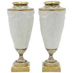 Pair of French Victorian Sevres Vases