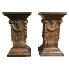 Pair of Italian Pedestal Dining Table Bases Late 20th Century
