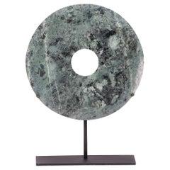 Pale Green Hardstone Bi Disc