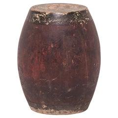 19th Century Chinese Painted Drum Stool