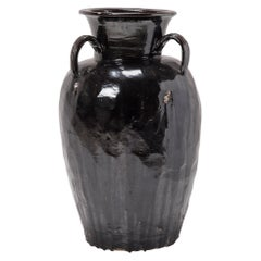 Monumental Chinese Drip Glaze Wine Vessel