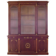 French Empire Style Breakfront Cabinet