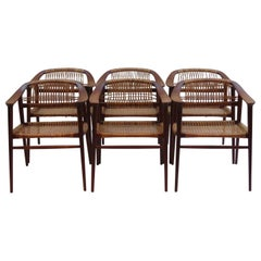 Set of 6 Bambi Dining Chairs by Rolf Rastad and Adolf Relling Norway