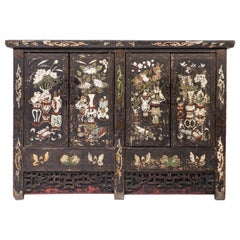 Early Qing Dynasty Painted Cabinet with Two Pairs of Doors