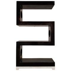 "Postmodern Tessellated Stone Four-Shelf ""S"" Etagere, 1990s"