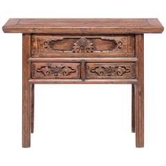 19th Century Chinese Three-Drawer Console Table