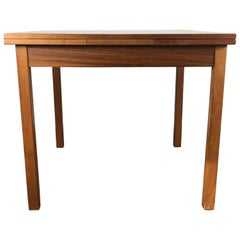 Sleek, Simple Expandable Teak Dining Table Made in Denmark