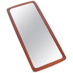 Teak Wall Mirror by Johansen's Spejle