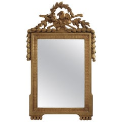 French Late 18th Century Gilt Framed Mirror