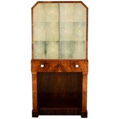 English Art Deco Liquor Cabinet