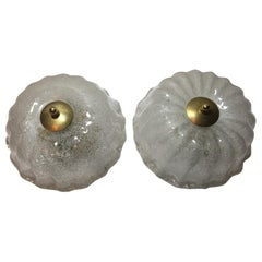 One Pair of Ice Cake Flush Mounts or Sconces