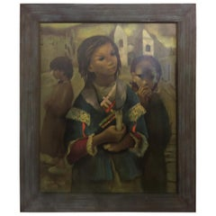 Oil Painting of Three Children by Jean Lydis