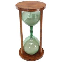 """Huge 44"""" Tall Table Pedestal Sandglass Hourglass Timer Sculpture Artist"""