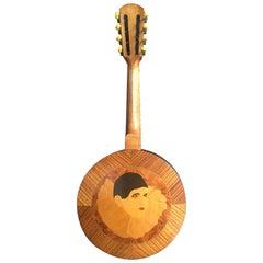 Art Deco Banjo Signed E. Mangini, Torino Italy in Honor of the Circus