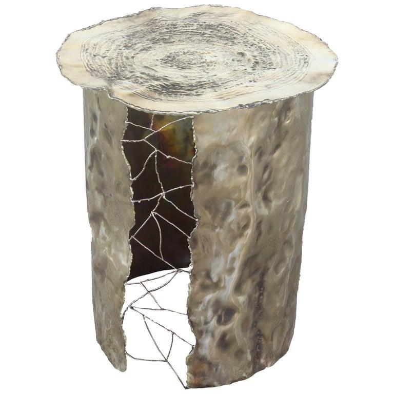 Dal Furlo Metall Baum Beistelltisch Messing Gehämmert Im Angebot