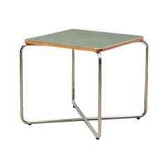 Side table by Marcel Breuer for Bigla 1930s green linoleum tubular steel