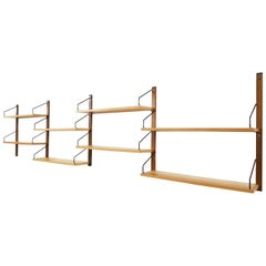Poul Cadovius for Royal System Wall System or Shelves in Elm, Danish 1948