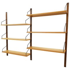 Poul Cadovius for Royal System Wall System or Shelves in Elm, Denmark, 1948