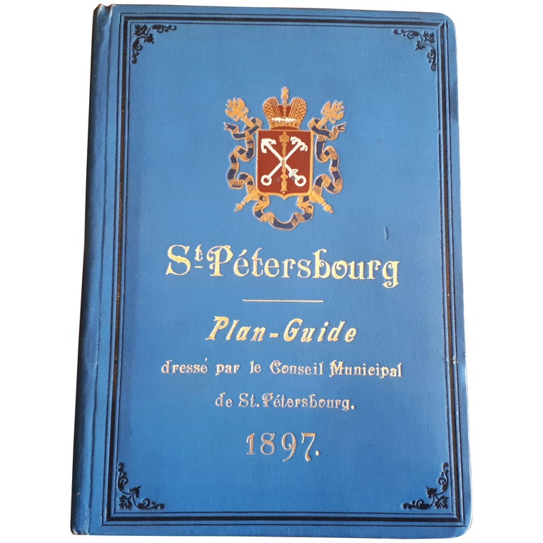 Antique Guide of St. Petersburg by Jablonsky, 1897 For Sale