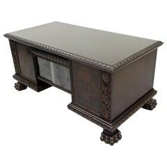 Herrenzimmer Tisch Löwentatzen Alt Antik Schreibtisch Büromöbel