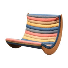 Rocking chair by Verner Panton for Rosenthal 1970s beech wood