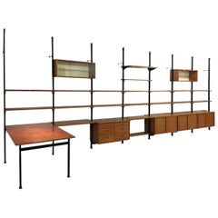 Large 1960s Modular Shelving System 'Pira' by Olaf Pira for String Sweden