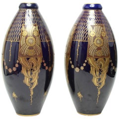 Pinon-Heuze French Art Deco Porcelain Vases