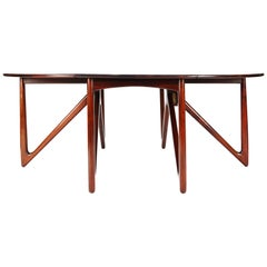 Kurt Østervig Rosewood Drop Leaf Dining Table for Jason Møbler, 1960s
