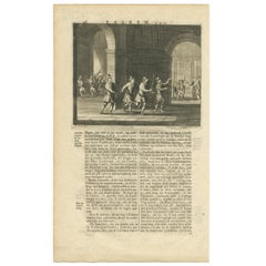 Antique Print of the Kidnapped Governor by Valentijn, 1726