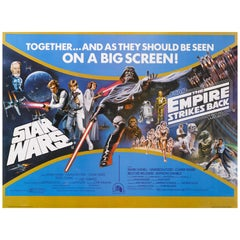 """Star Wars / The Empire Strikes Back"" Film Poster"
