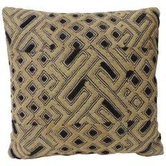 Kuba Raffia Square African Textile Decorative Pillow