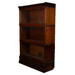 Antique Arts & Crafts Quarter Sawn Oak Globe-Wernicke Barrister Bookcase