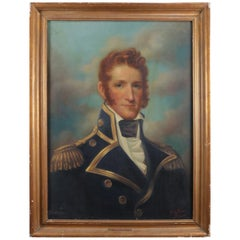 Oil on Canvas Portrait Painting of Commodore McDonough by Clayton Braun