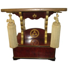 19th century Fraternal Order Ceremonial Pedestal Book Stand
