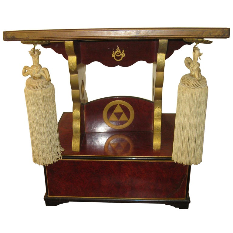19th Century Fraternal Order Ceremonial Pedestal Book Stand For Sale