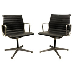 Pair of Vintage Eames for Herman Miller Aluminum Group Office Chairs