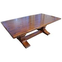 Wonderful Ralph Lauren Honey Colored Trestle Pine Farm Table