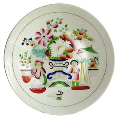 Early 19th Century Plate by Hilditch & Son Staffordshire Oriental Musicians