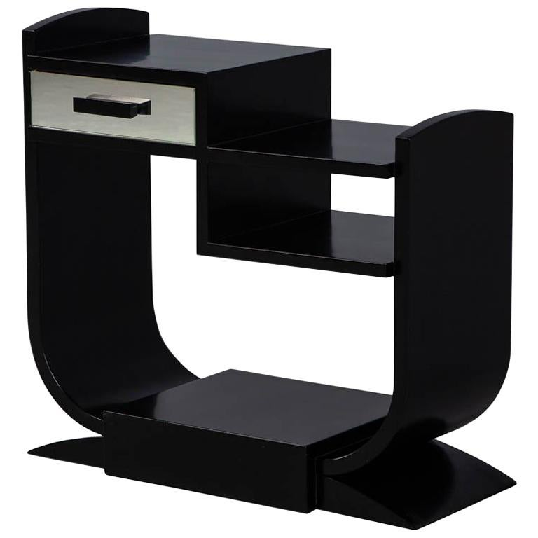 Vintage French Art Deco End Table Console, 1940s