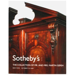 Sotheby's: The Collection of Mr. and Mrs. Martin Gersh, New York, Oct. 18, 2006
