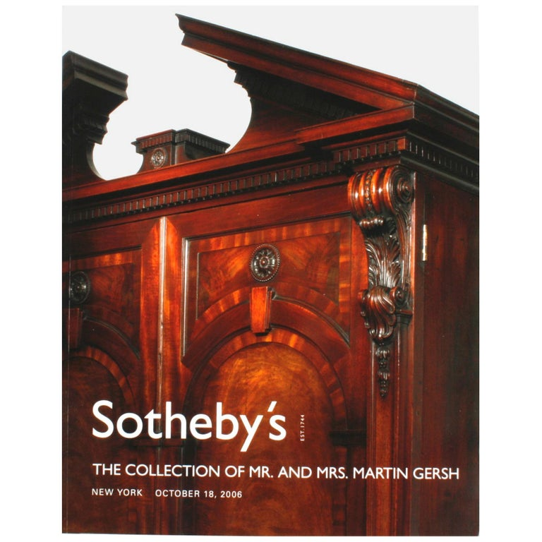 Sotheby's: The Collection of Mr. and Mrs. Martin Gersh, New York, Oct. 18, 2006 For Sale