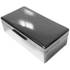 Large Birks Sterling Silver Table Box, Date Letter for 1946