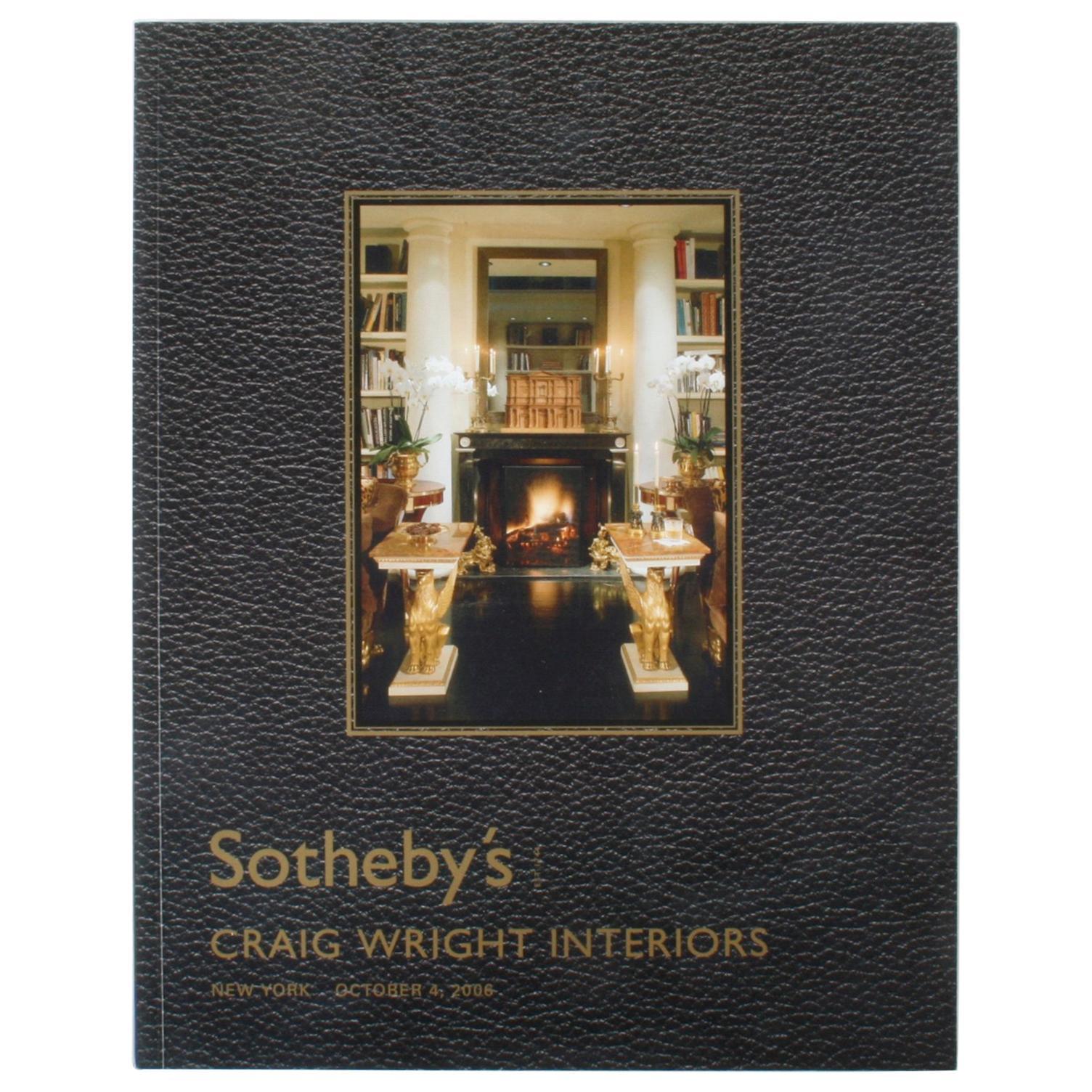 Sotheby's: Craig Wright Interiors, New York: October 4, 2006