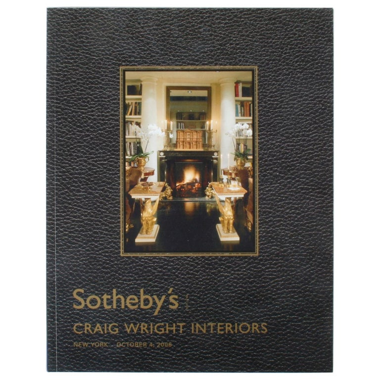 Sotheby's: Craig Wright Interiors, New York: October 4, 2006 For Sale