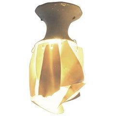 White Porcelain Ceiling Lamp with Hanging Porcelain Petals