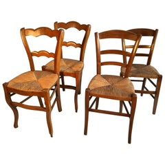 Two Pair of French Country Side Chairs