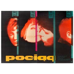 Vintage Polish Pociag Poster by Wojciech Zamecznik for CWF, 1959