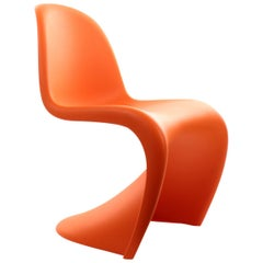 Panton Junior Chair by Verner Panton Vitra 1967, Bright Orange Children's Chair