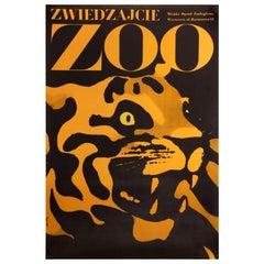Zwiedzajcie Zoo Original Polish Poster, Waldemar Swierzy, 1967