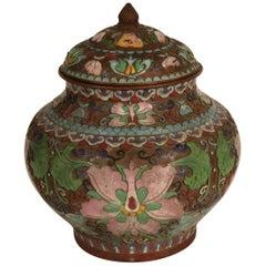 1910 Cloisonne Jar with Lid